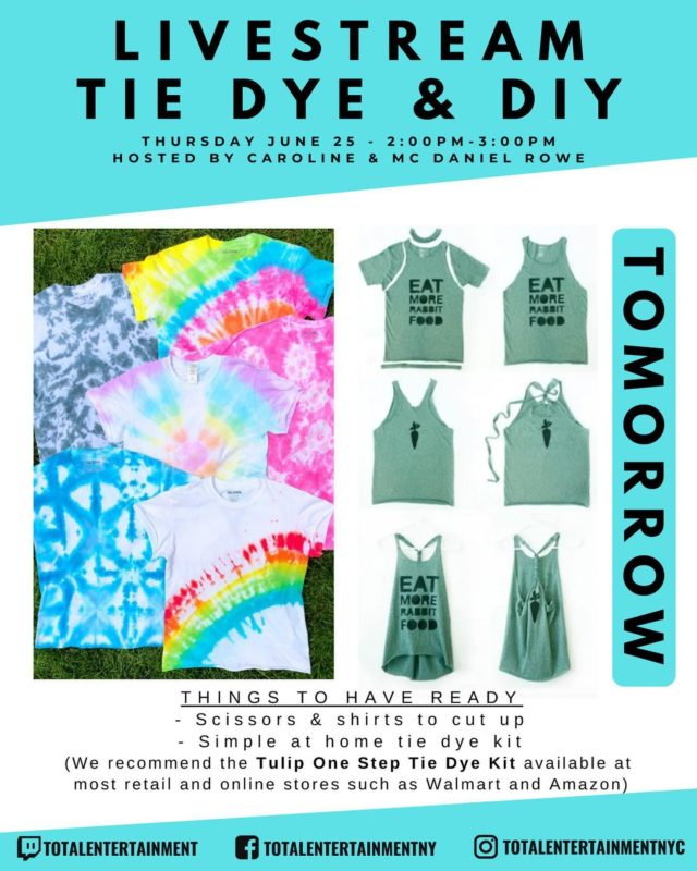 ‼️ DON'T FORGET ‼️ We are tie dying and doing a DIY shirt cutting workshop ➡️ (SWIPE FOR INSTRUCTIONS)