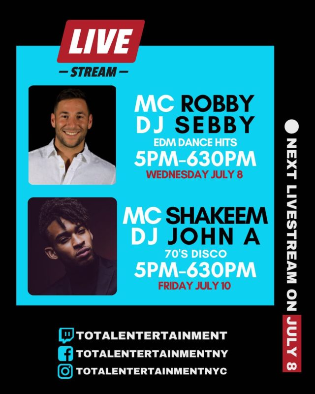 Take a look at this week's livestream lineup! #boogiedown