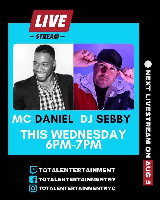 Join @daniel_rowe26 & @djsebbynyc on this Wednesday's live stream!!! 😎🎶🎵